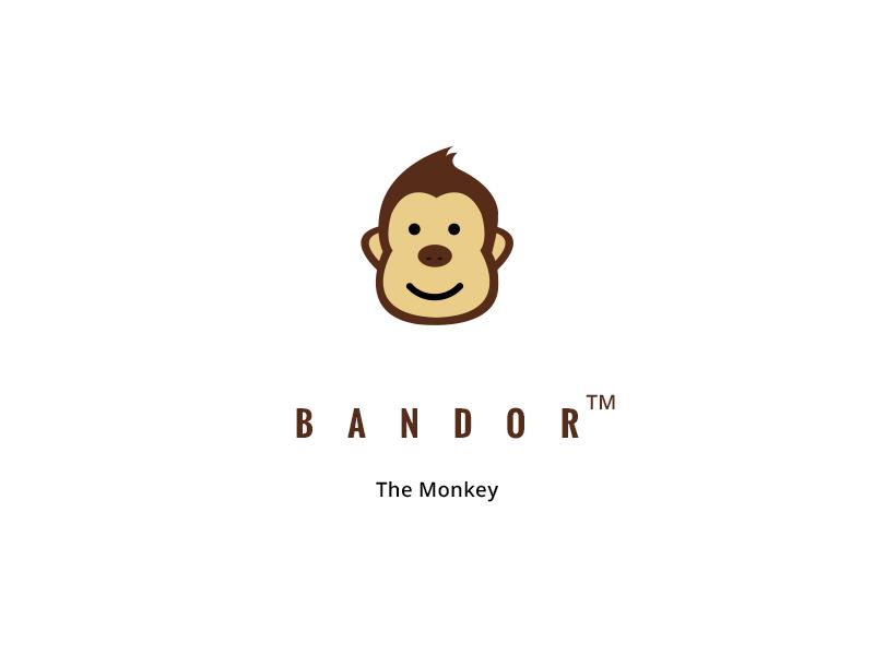 Bandor The Monkey Logo Illustration Free Download