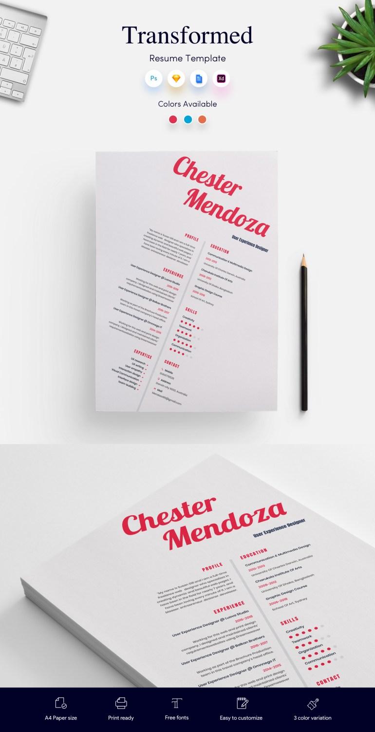 1. Transformed CV/Resume Template