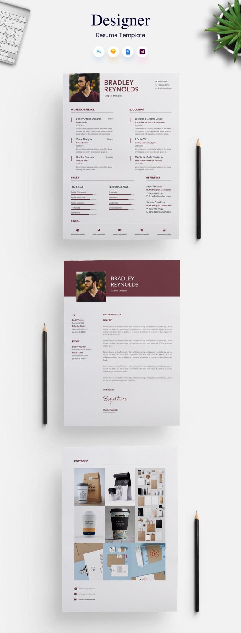 1. 3 page Designer CV/Resume Template
