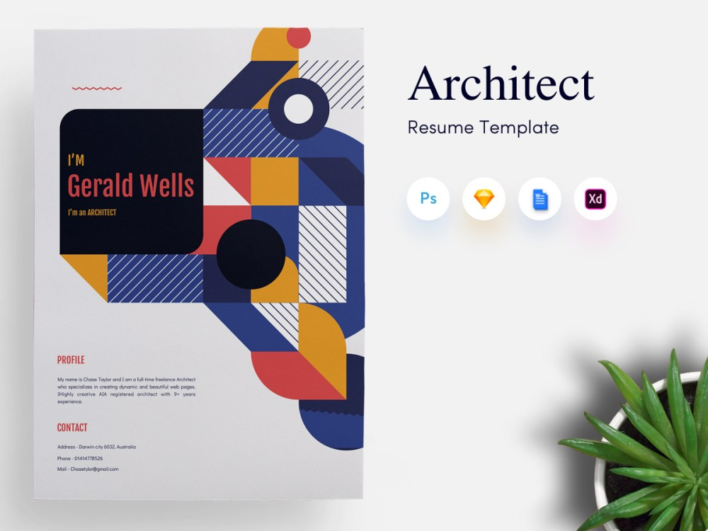 Architects CV/Resume Template