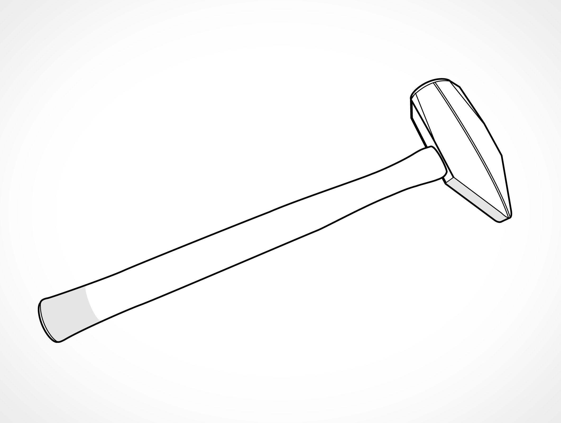 Metal Pounds Bonding Hammer Vector Tools