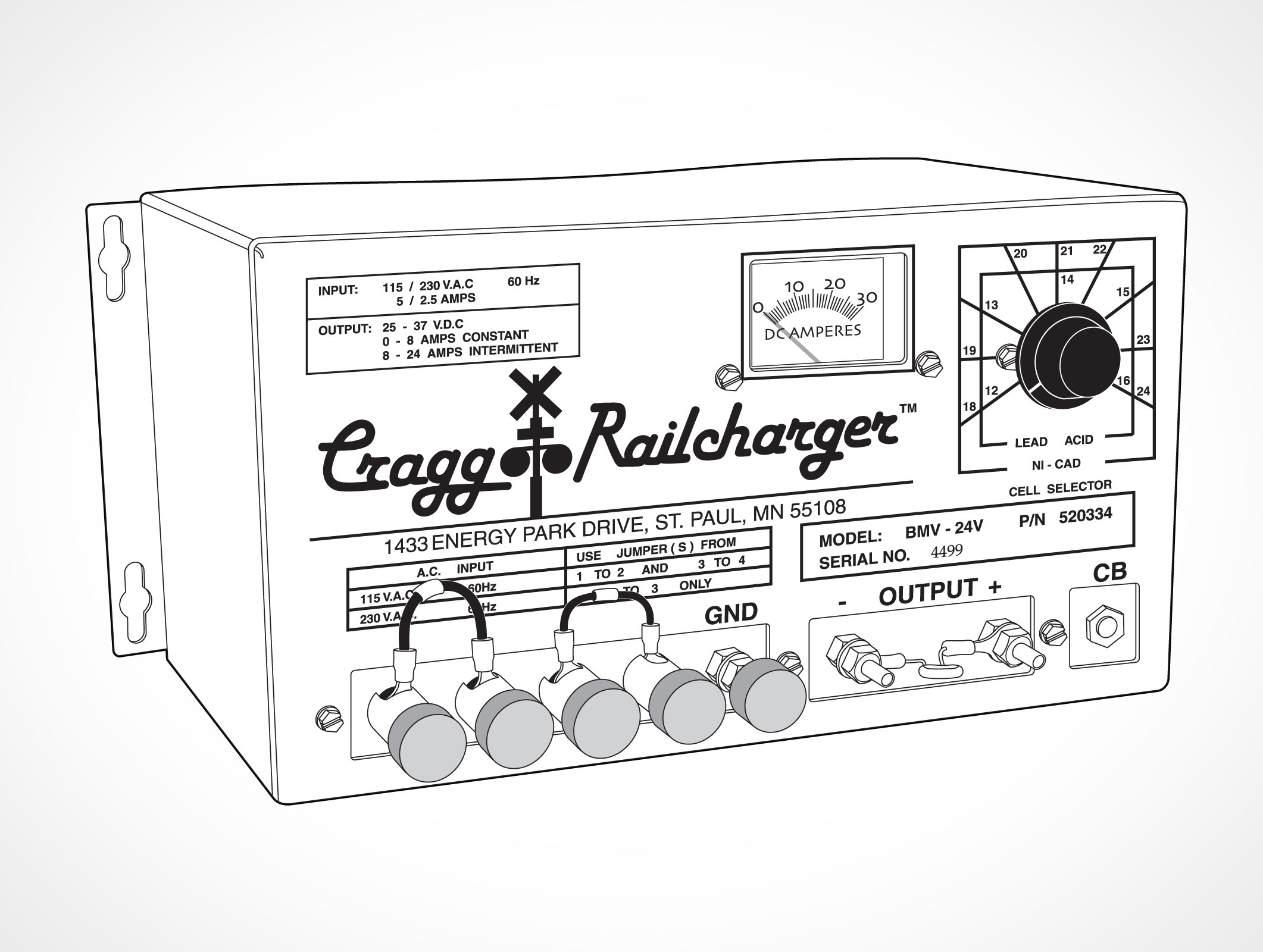 Cragg Railcharger Automatic Battery Charger