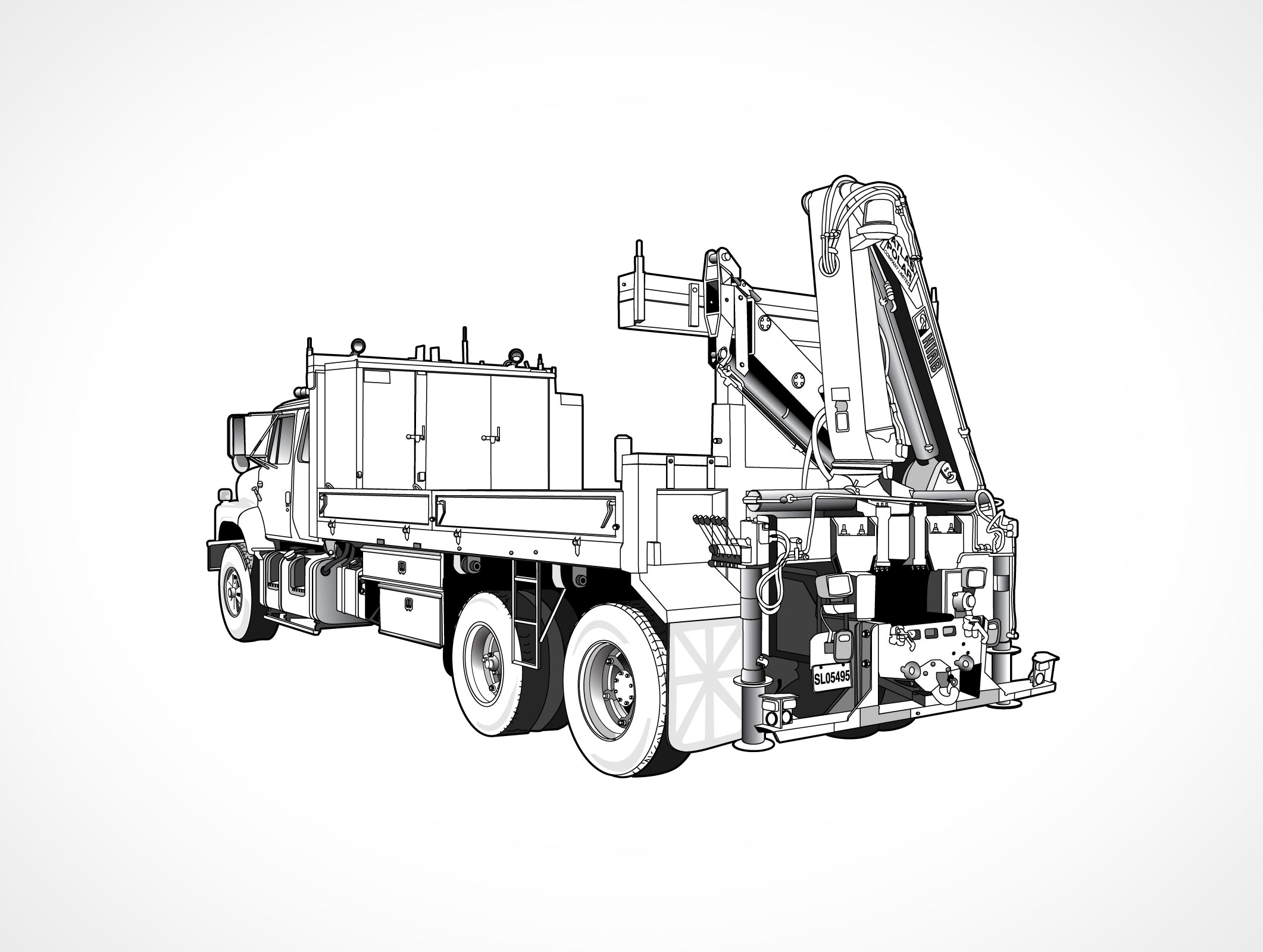 Crane Truck Coloring Pages Coloring Coloring Pages