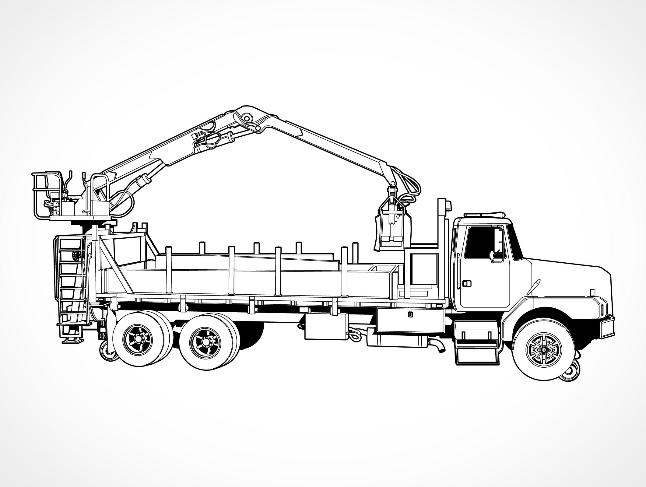 Sidelift Crane Truck Eps