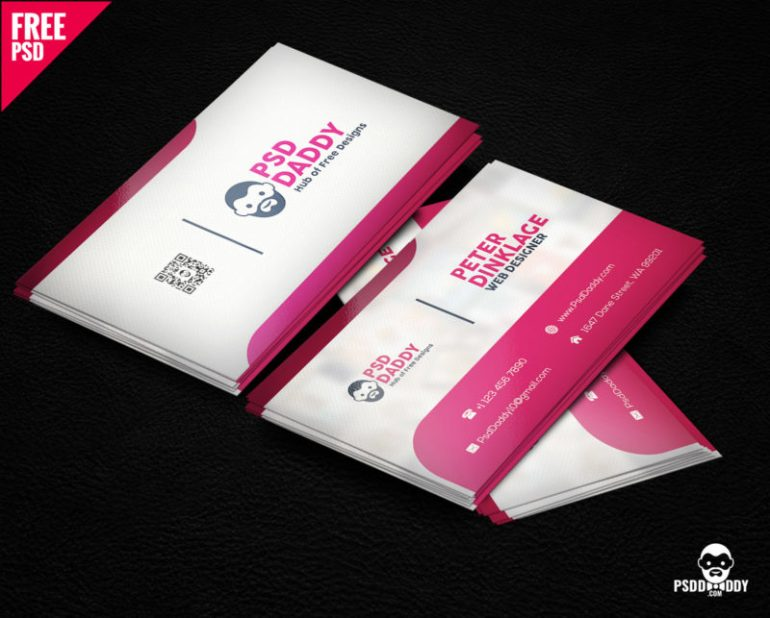 Classic Business Card Template Free PSD