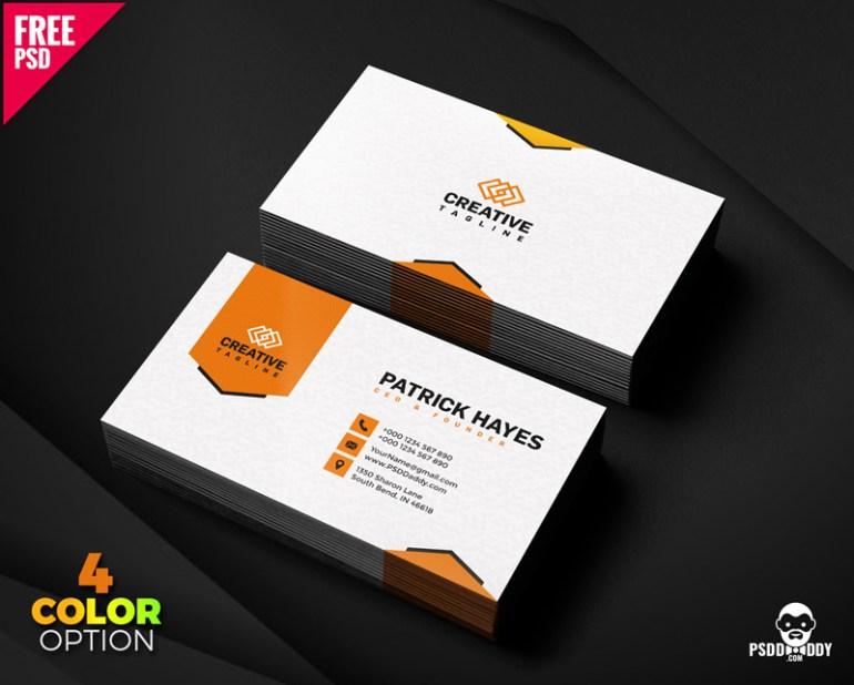 Business Card Design Free PSD Set