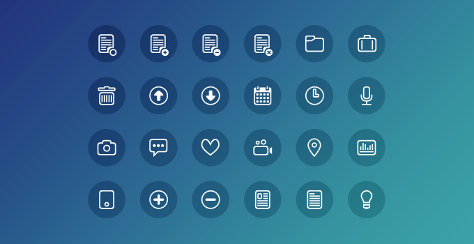 24 Clean Icons