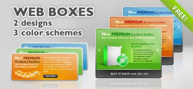 6 PSD Web Boxes