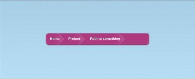 A Pink Vibrant Breadcrumb Interface