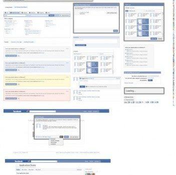 absolute professional facebook gui psd layered material  non original