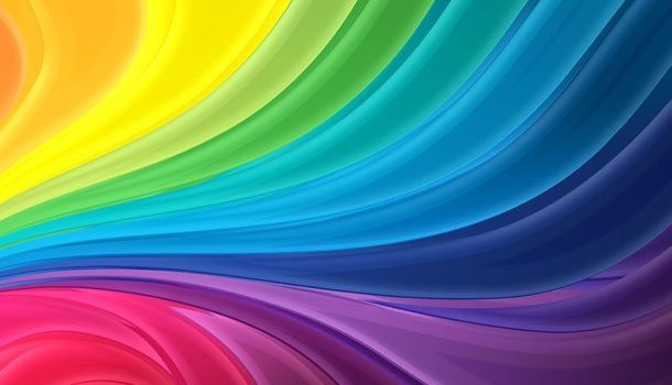 Abstract rainbow flow background