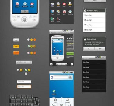 android phone the gui psd layered material