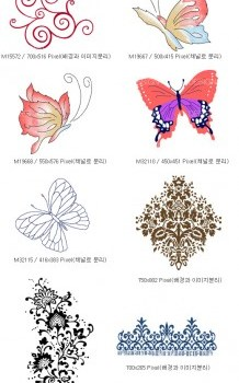artcity korean fashion gorgeous patterns and the butterfly series
