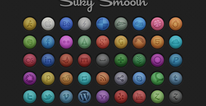 Silky Smooth Social Icons