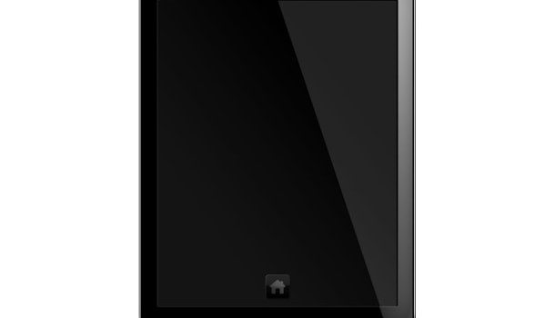 Tablet PC, blank screen PSD template
