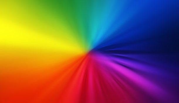 Blurry rainbow colors design