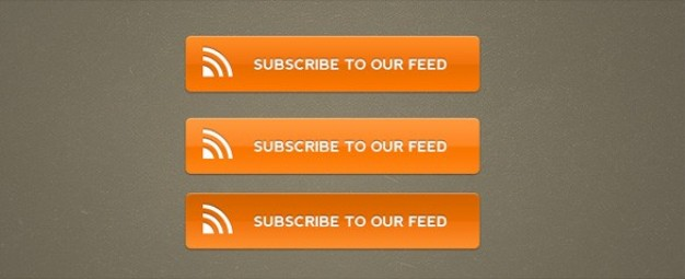 bold orange rss subscribe buttons psd