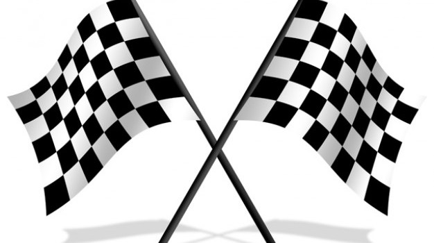 Checkered flags PSD icon