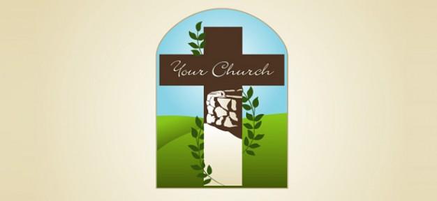 church free logo template