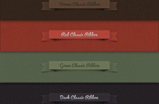 classic ribbon   psd layered material