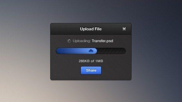 clean dark files free little psd small upload widget