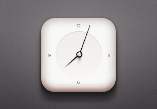 Simple Clock Icon PSD