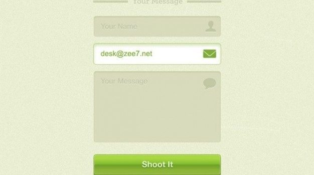 cool green contact form psd