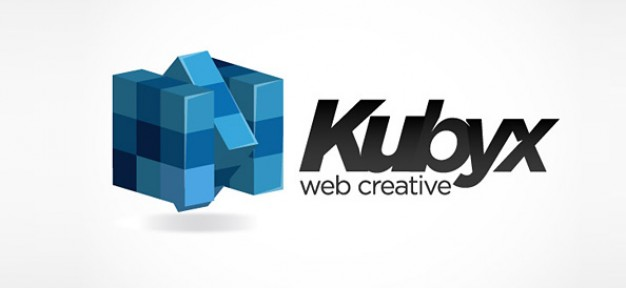cube computer vector logo