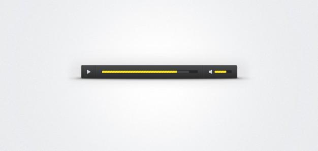 Custom Audio Player Skin (PSD)