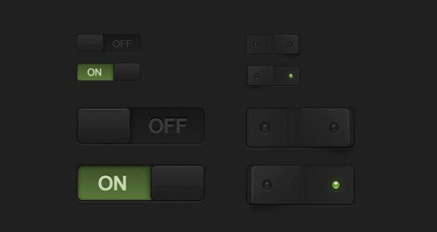 dark essential switches psd
