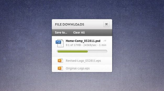 download file grunge osx progress bar widget