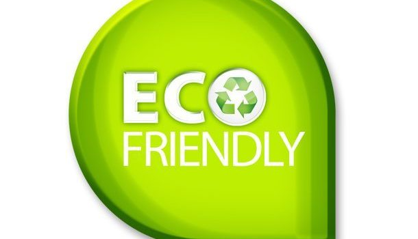 Green eco friendly sign (PSD)