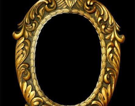 european ornate gold frame layered material