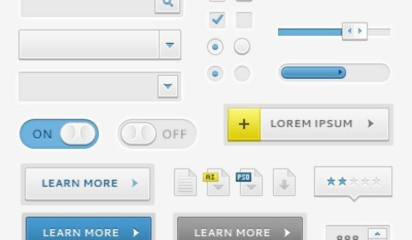Exquisite Web pages frequently used elements 02 PSD