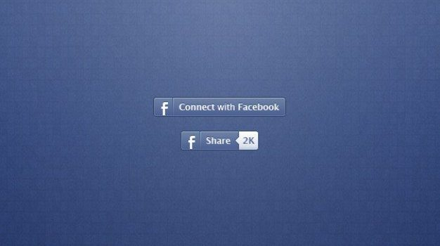 facebook buttons for share and connect