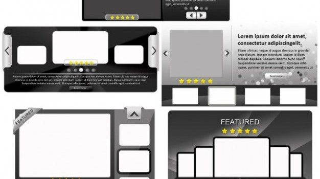 fine and practical web elements    psd layered material