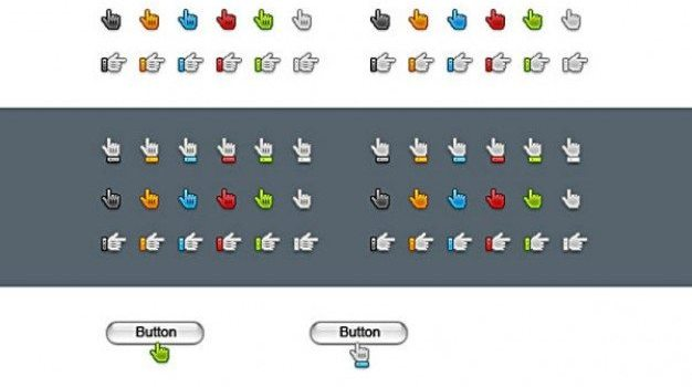 finger pointer icon   psd layered material