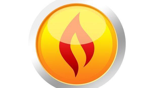 Yellow fire button (PSD)