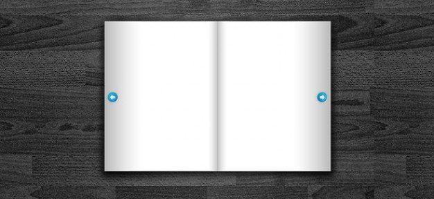 free book psd template