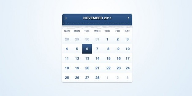 fresh blue web ui calendar psd