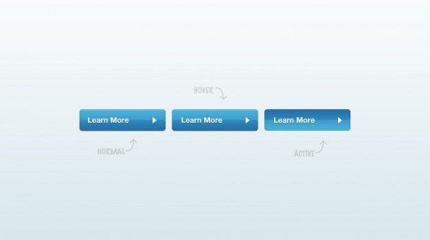 Glossy learn more buttons PSD material
