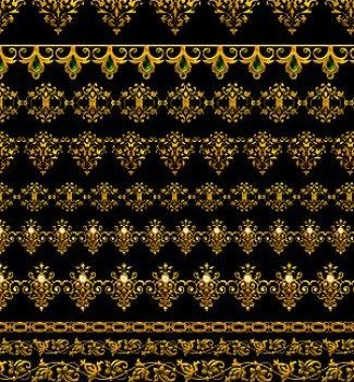 gold ornate lace psd layered material