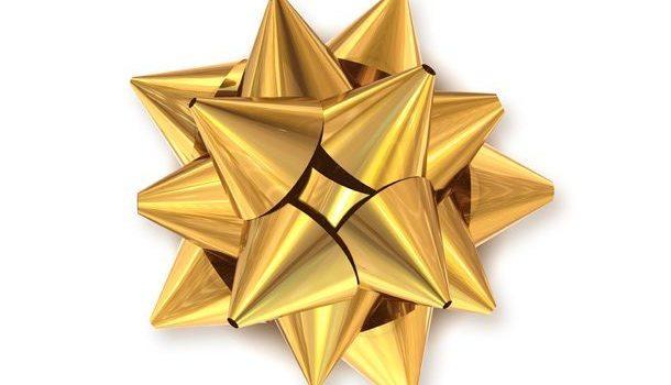 Golden bow decoration