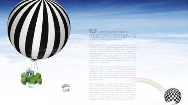 hot air balloon financial business layered template