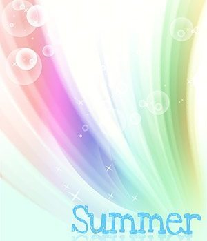 Korea style summer backgrounds layered PSD material 3