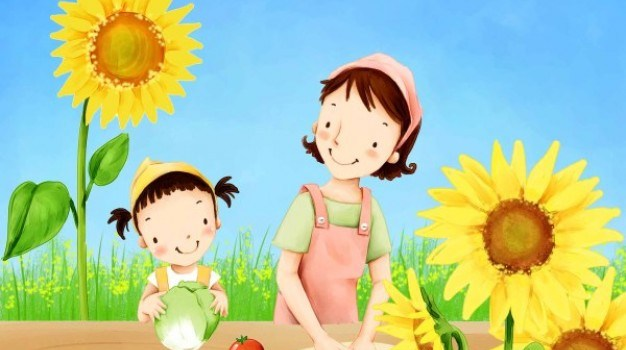 korean children s illustrator psd material