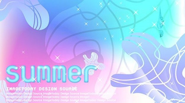 korean style summer background layered psd material
