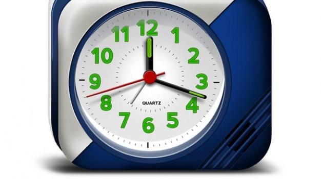 lectronic alarm clock psd & icons
