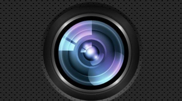 lens icon psd layered material