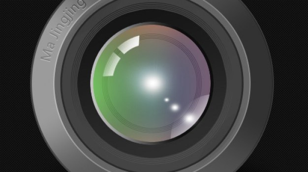 lens psd layered material